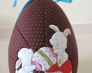 Nyuszik húsvéti tojás gomba