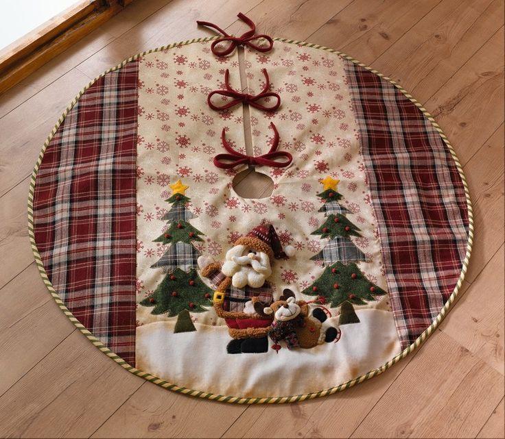 """Weihnachtsbaumdecke """"Santa Claus"""""""