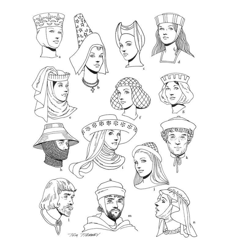Jonkvrouwen en ridders uit de middeleeuwen. Te gebruiken als voorblad van werkboekje voor leerlingen en ter verduidelijking wat we hiermee bedoelen.