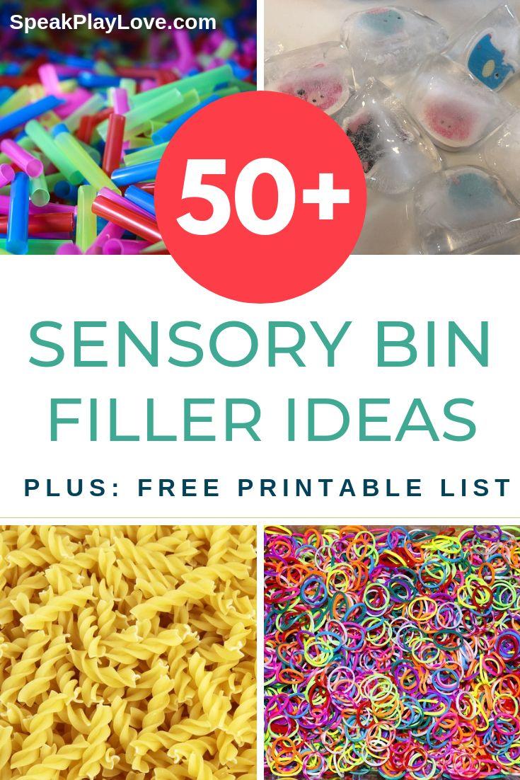 50+ Sensory Bin Fillers – Plus a Free, Printable List