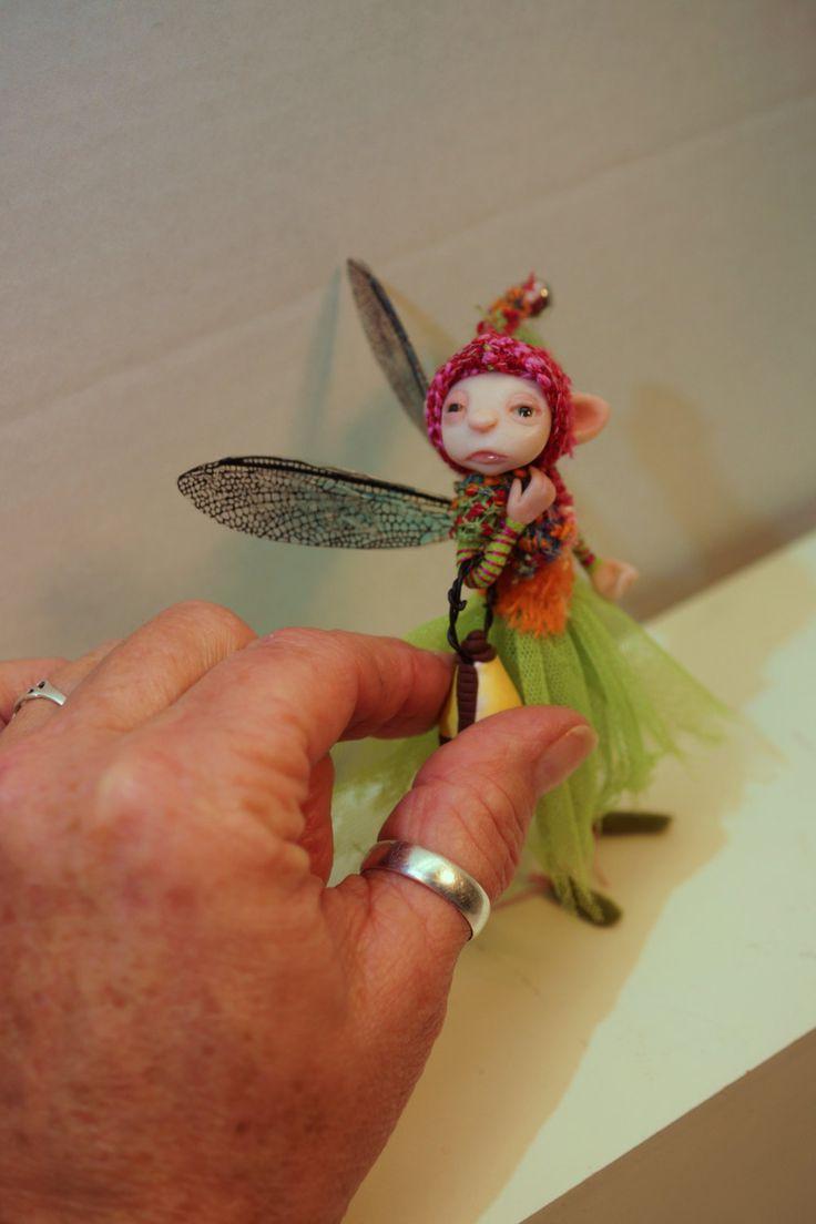 ooak poseable LIGHT KEEPER Woodland Fairy ( 210 ) fairy elf pixie art doll by DinkyDarlings by DinkyDarlings on Etsy