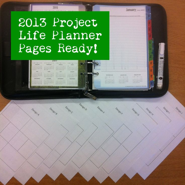 Project life planner pages! Download the file at TravelEatCraftRepeat.com