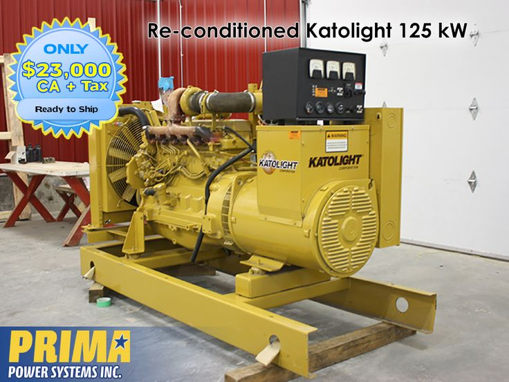 *GREAT DEAL!* Re-conditioned Katolight 125 kW #Generator Price: $23,000 CAD ~OR~ $17,500.00 USD For more information call: 1 604-791-1815