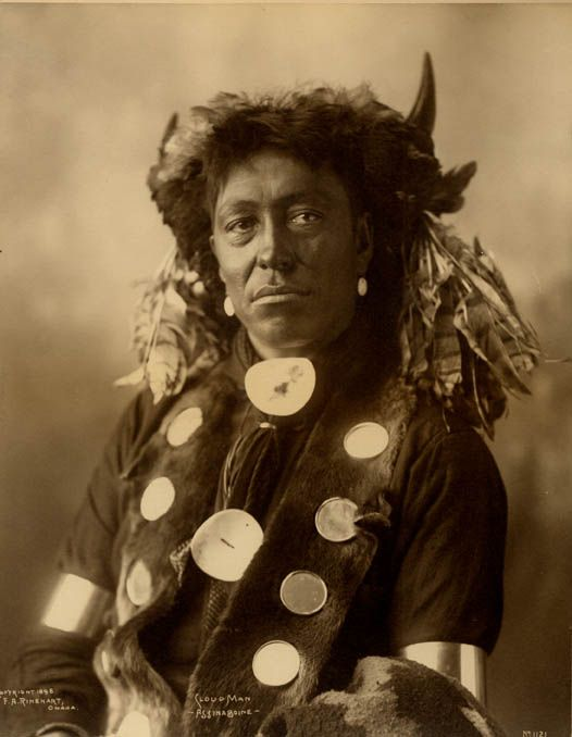 Cloud Man - Assiniboine - 1898 Assiniboine people, a Siouan Native American/First Nations people originally from the Northern Great Plains of the United States and Canada