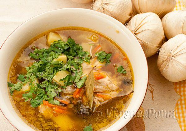 Рецепт суп с курицей и вермишелью