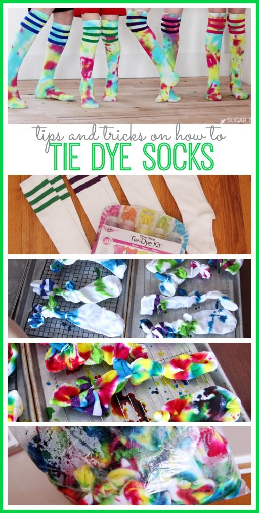 love these tips on how to tie dye socks , diy - - fun craft idea when we're all stuck inside! - - sugar Bee Crafts