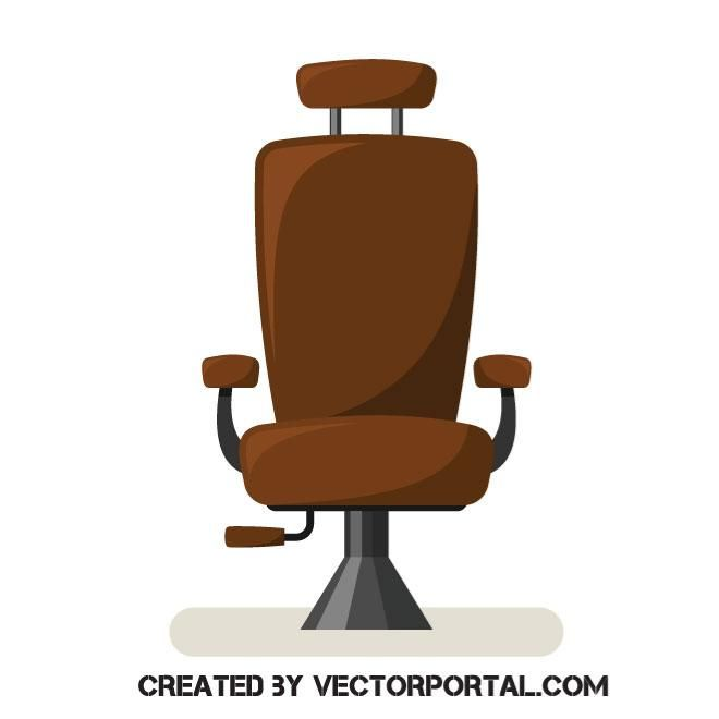 Chair In A Barbershop Vector Image Chair Vector Vector Free