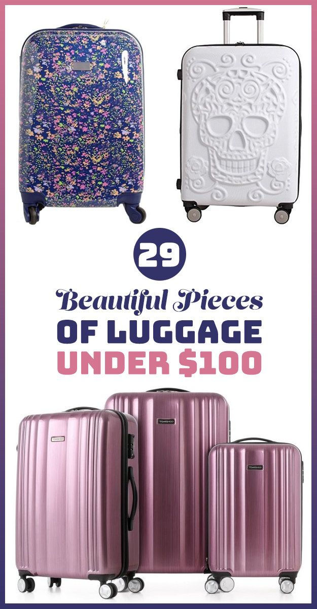 Get all the luggage you'll need to over pack for your next getaway.