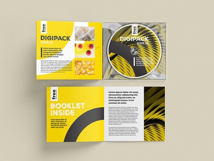 Free Digipack Mockup Design Mockup Free Booklet Booklet Design