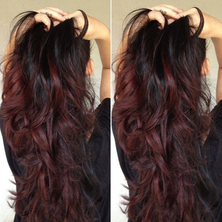 cabelos com madeixas californianas vermelhas - Pesquisa Google