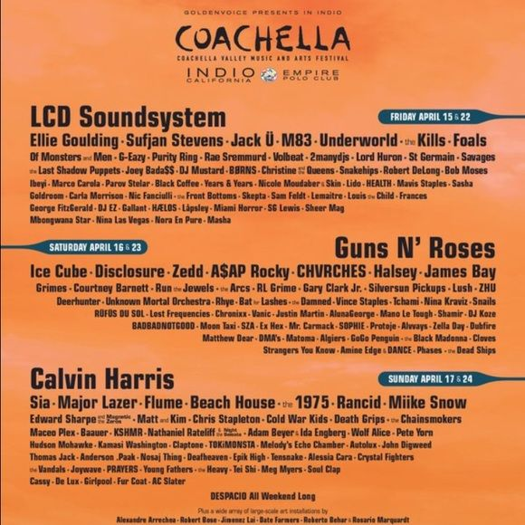 Coachella weekend 2 ticket with shuttle pass! Weekend 2 coachella ticket with shuttle pass, sadly I bought a ticket but I can't go :( I'll ship it right when I receive payment! Please use ️️ ... adenas@uoregon.edu! Other