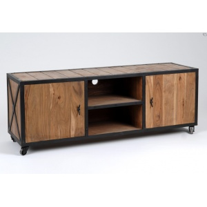 meuble tv industriel en bois et m tal de la marque amadeus d co rigging pinterest dresser. Black Bedroom Furniture Sets. Home Design Ideas