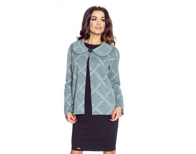 Clea Elegantes Bolerojäckchen mit einem Kragen ,Farbe: Grau, Größe: 42 Jetzt bestellen unter: https://mode.ladendirekt.de/damen/bekleidung/jacken/sonstige-jacken/?uid=6f351ab5-decb-591b-af53-a844abdc634b&utm_source=pinterest&utm_medium=pin&utm_campaign=boards #sonstigejacken #bekleidung #jacken