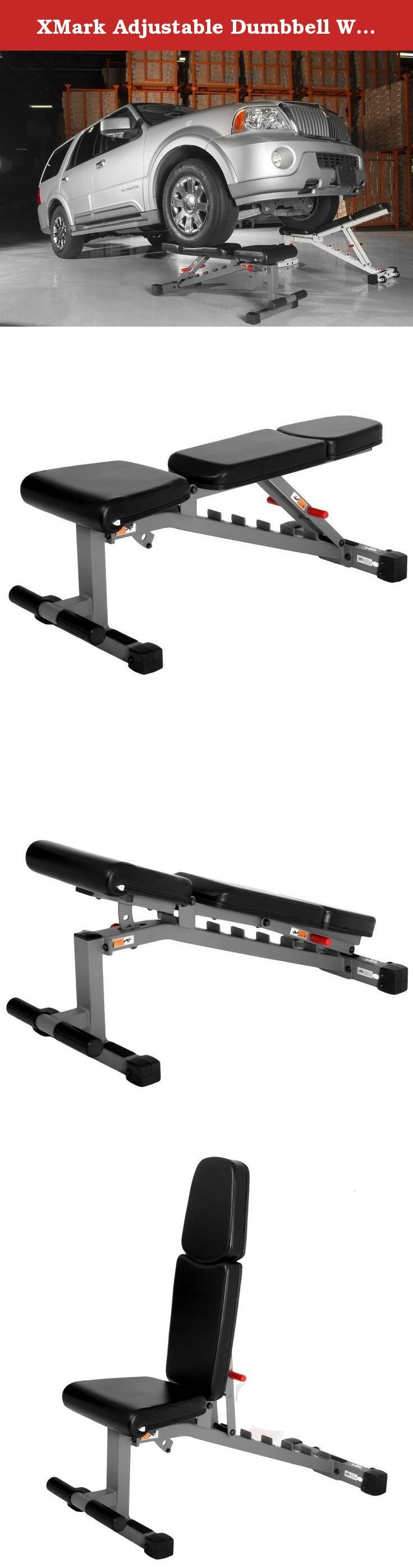 XMark Adjustable Dumbbell Weight Bench XM 7630. XMark Adjustable FID  Dumbbell Weight Bench XM