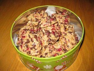 Biscuits aux canneberges, gruau et chocolat