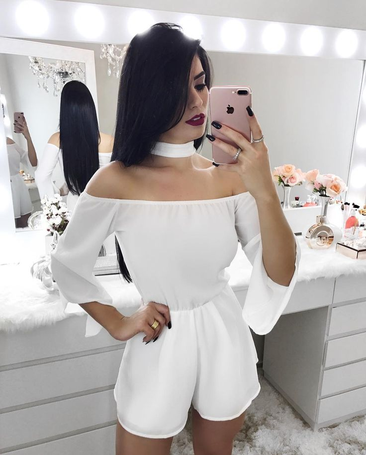 "7,565 Likes, 48 Comments - Vanessa Martins Borellii (@vanessaborellii) on Instagram: ""Muito amor || @credencialx - - - - #tendencia #vestido #dress #nails  #body #bodysuit #jumpsuit…"""