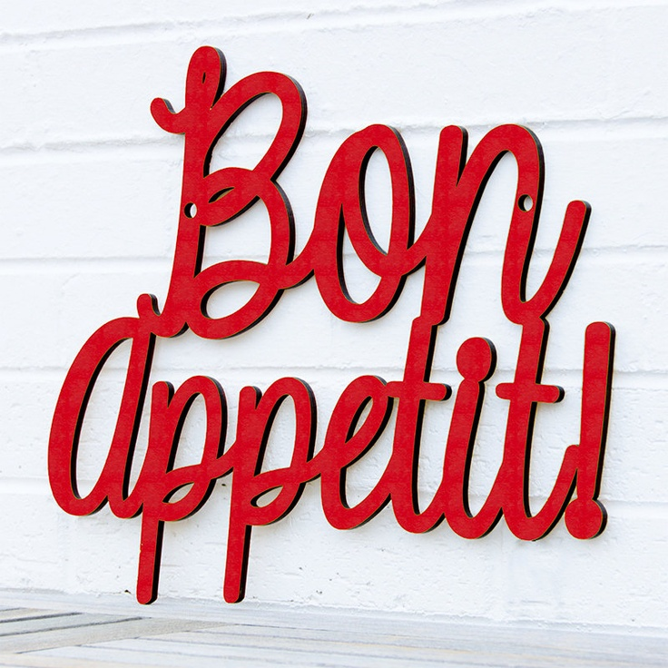 How Cute Would This Red Bon Appetit Sign Be In Your Kitchen?