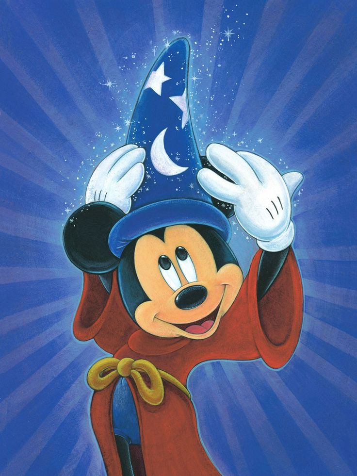 Mickey Mouse - Fantasia - Sorcerer Mickey - Magic is in the Air - Bret Iwan ( the Official Voice of Mickey Mouse ) - World-Wide-Art.com - #mickeymouse #disney #bretiwan