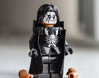 Sting (WWE, wCw, TNA Wrestler) custom LEGO minifigure toy / rebuildable action figure / mini-figurine