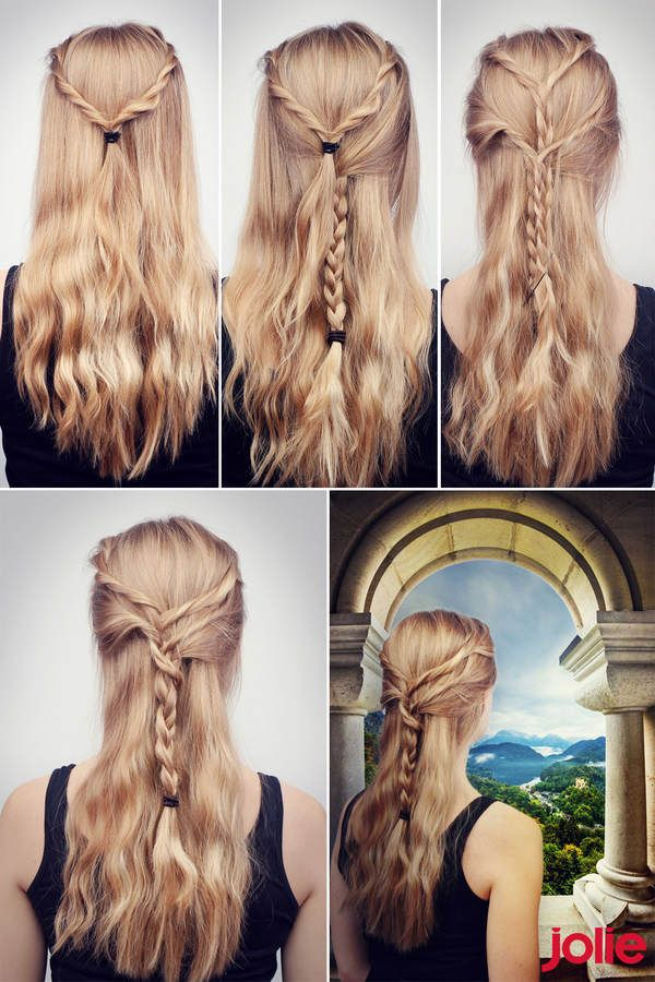 Die Besten 25 Halb Lange Haare Locken Ideen Auf Pinterest