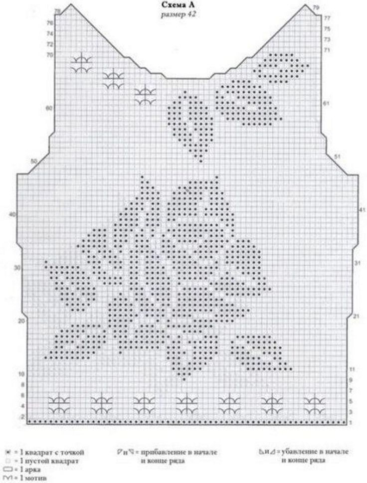 187 best 140 filet crochet to wear images on pinterest 59 crochet diagramcrochet chartfilet crochetcrochet sweaterscrochet ccuart Image collections
