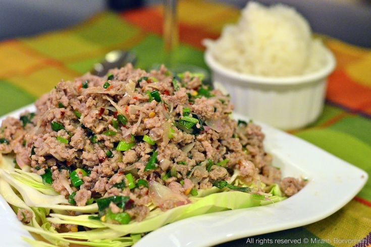 Spicy Meat Salad : Thai Larb Neau | eat.savory | Pinterest