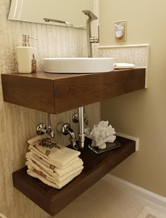 Raw Floating Bath Vanity No Finish In 2019 Floating
