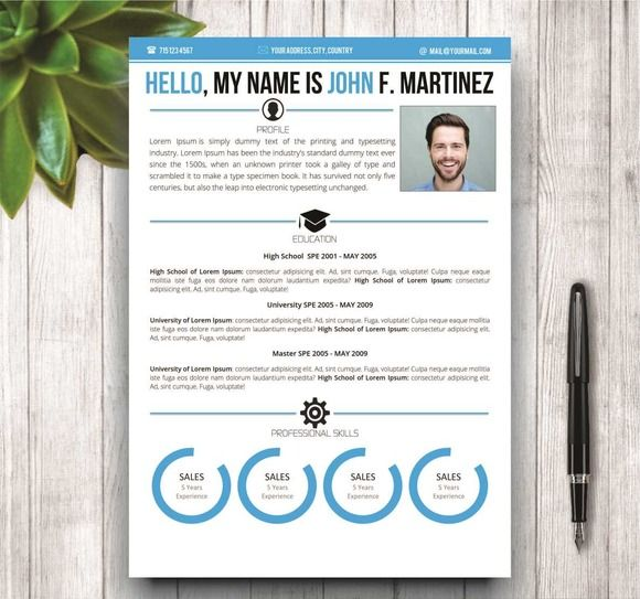 The 109 best Modern and Creative Resume Templates images on - creative resumes templates
