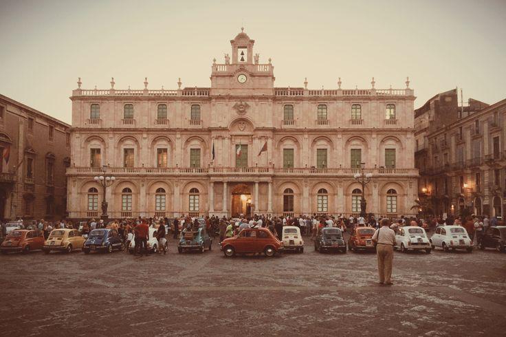 Fiat 500 Club in Catania Stop Off