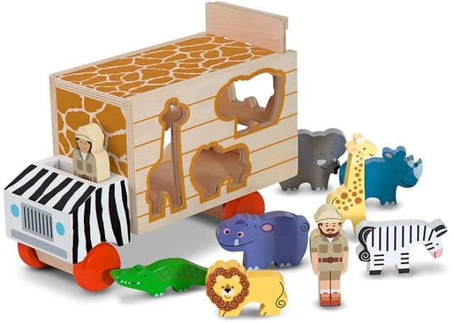 This is the coolest shape sorted ever!! Melissa & Doug - Wooden Animal Rescue Shape Sorter Truck #EntropyWishList #PinToWin