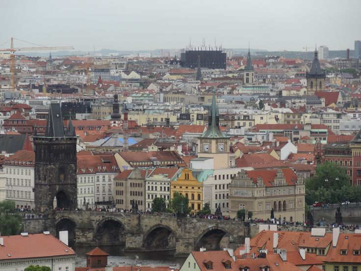 View of Charles bridge from Prague castle - May 16 2014