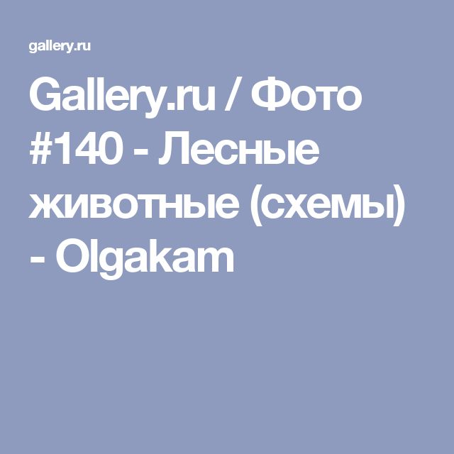 Gallery.ru / Фото #140 - Лесные животные (схемы) - Olgakam