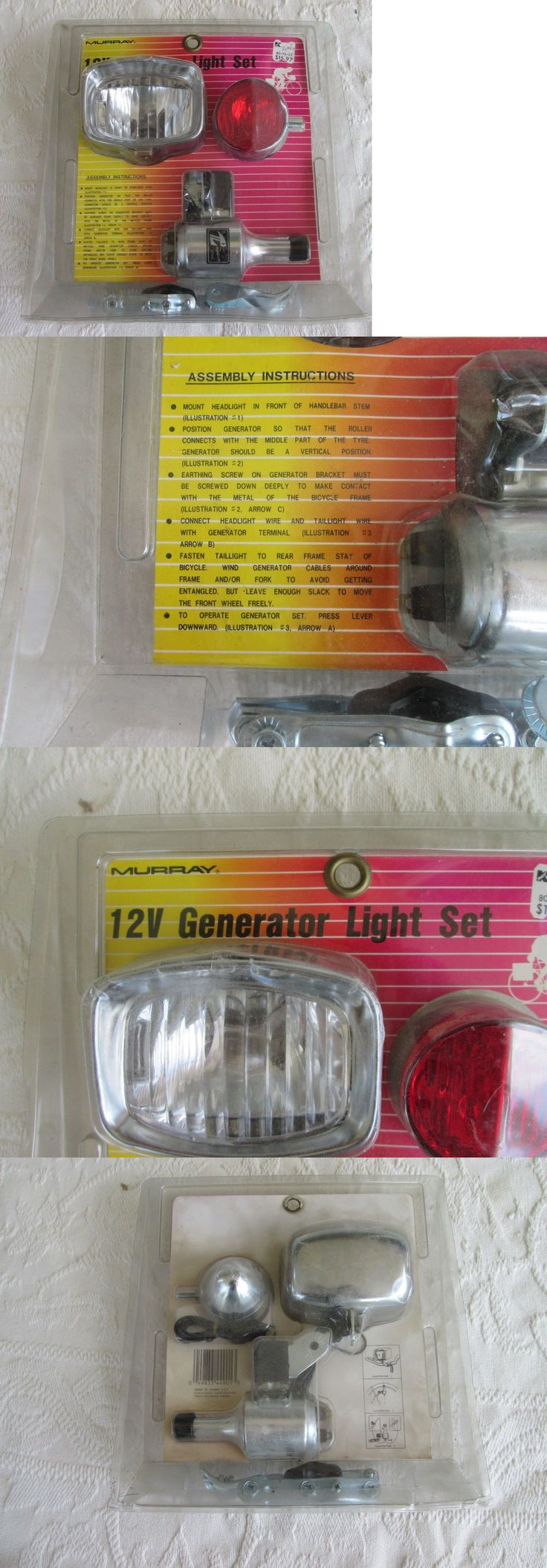 Lights and Reflectors 22689: New Nos Vintage Chrome Bicycle 12V Generator Light Set By Murray -> BUY IT NOW ONLY: $33.99 on eBay!