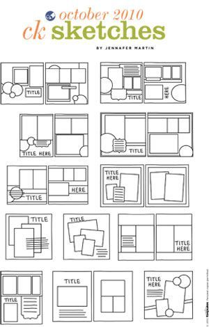 62 best Scrapbooking Sketches for 4x6 Photos images on