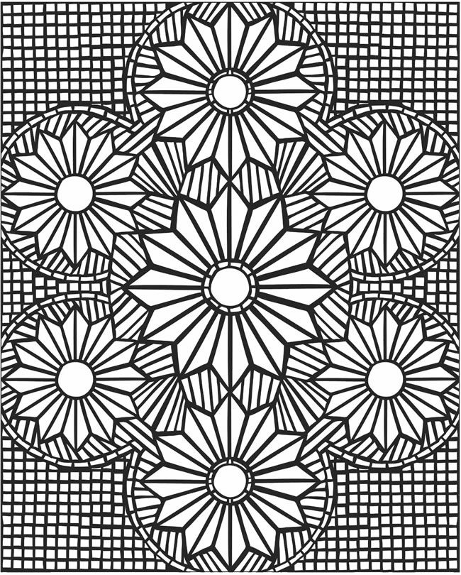 mosaic coloring pages mosaic patterns coloring pages kids