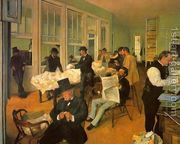 The Cotton Exchange in New Orleans  by Edgar Degas