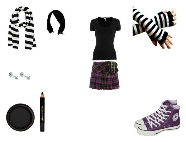 anna blue style 1 by mayleneholm on Polyvore featuring Splendid, Hell Bunny, Converse, Michael Kors, By Terry and Barry M