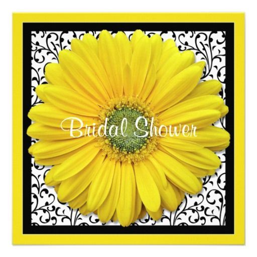This DealsYellow Black Gerber Daisy Bridal Shower InvitationWe provide you all shopping site and all informations in our go to store link. You will see low prices on