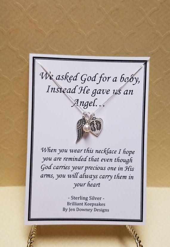 God gave us an angel miscarriage jewelry by BrilliantKeepsakes