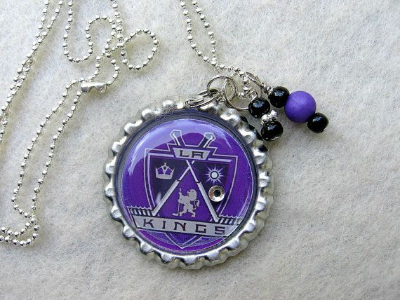 NHL LA Kings Hockey Pendant Necklace by SportsJewelryStudio, $10.00