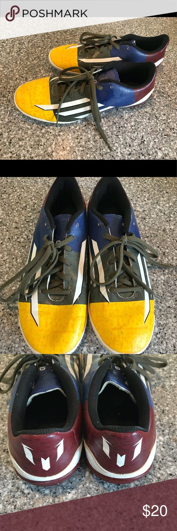 Adidas Messi Indoor Soccer Shoes Good used condition. Light dirt and scuffs. adidas Shoes