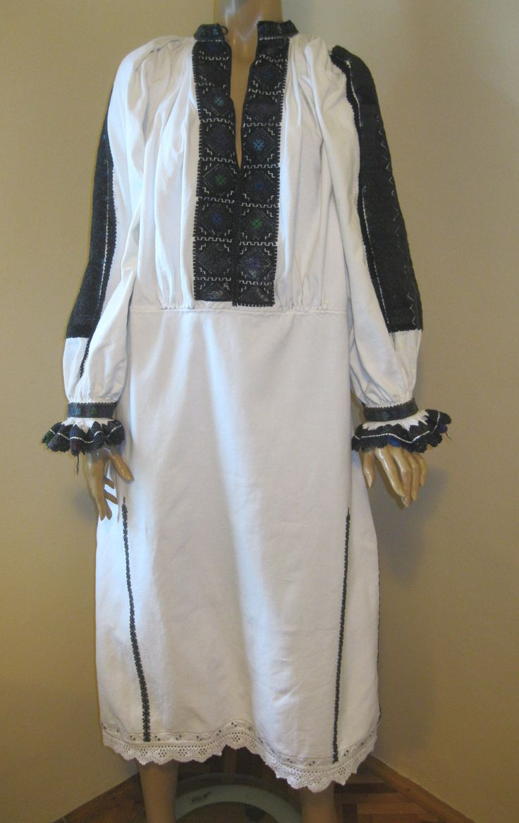 Antique hand embroidered Romanian dress from Transylvania at www.greatblouses.com