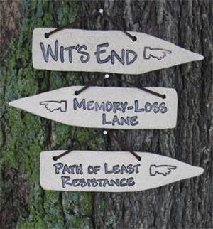 Detours of Life ~ Weather-proof stoneware ~ Psycho Path too!