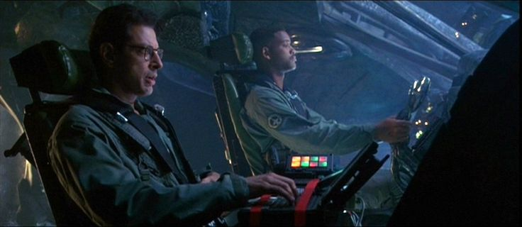 "Independence Day - Jeff Goldblum and Will Smith (Captain Steven Hiller: What do you say we try that again? David Levinson: Yes, yes. Yes. Without the ""oops"". Thataway."