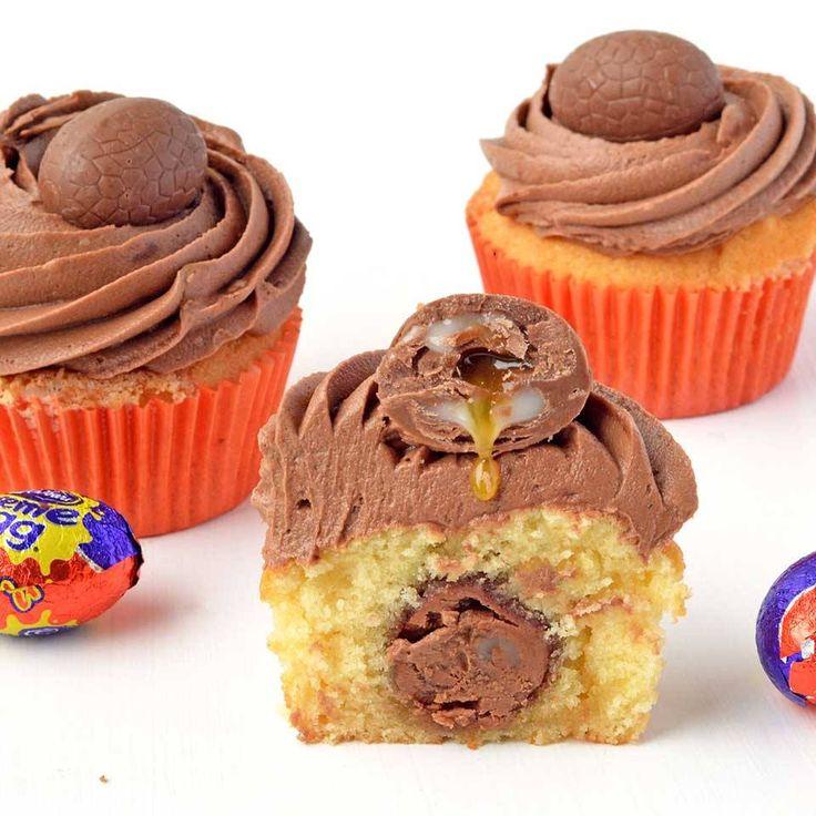 Cadbury Creme Egg Vanilla Cupcakes by JessicaHolmes