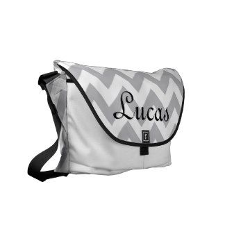 Grey and White Chevron Modern Diaper Bag Commuter Bags