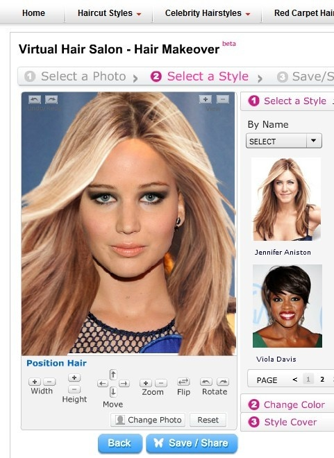 Can you imagine how Jennifer Lawrence looks if she wears Jennifer Aniston's hairstyle? It's perfect & attractive. Create your own perfect hairstyle at Prohaircut Virtual Salon (http://www.prohaircut.com/hairmakeover), you will find surprise and get inspiration in your new haircut. You can also share your virtual haircut to your friends everywhere on-line. Just go and enjoy it!