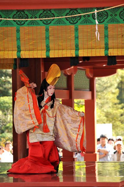 Kamakura Matsuri (Parade, Dance and Yabusame), Kamakura City, Kanagawa.  A  shirabyoshi dancer dressed in kariginu