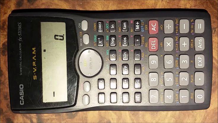 Conversión de unidades de onzas a gramos. Calculadora científica Casio f...