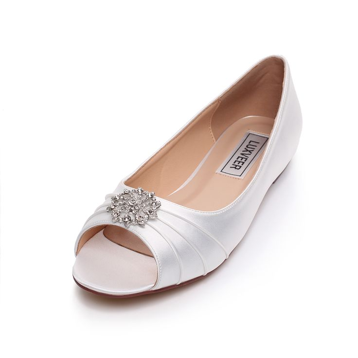 Flat Bridal Shoes Ivory. Cheap Flat Lace Ballet Style